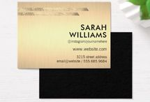 Gold Accent Business Cards