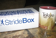 Stride Box April 2013 / StrideBox is a monthly subscription box for runners that delivers an assortment of running accessories, gear,  and nutritional products to your door each month.