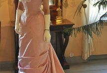 Victorian Natural form Ballgown