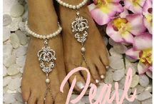Royal pearl barefoot sandal wedding Collection
