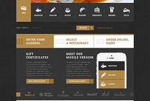 Webdesign / Webseiten Entwürfe die ich gerne einmal nachbauen würde