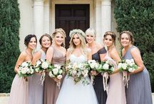 T h i s w a y t o p r e t t y / Bridesmaid dresses galore! Pretty blue lace to blush pink lace... we have the most gorgeous wedding inspiration for dressing your Bridesmaid!