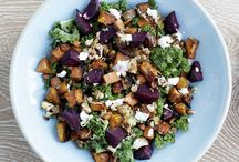 Vegan Salads / Vegan Salads perfect as light dinner in spring and summer but also warming saldas for autumn and winter!