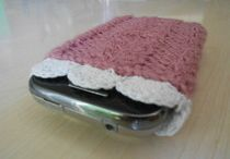 Loom knit cell phone case