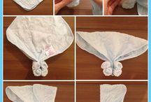 washcloth animals