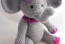 Chrochet baby elephant