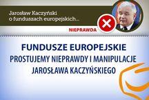 Fundusze Europejskie - prostujemy nieprawdy J.Kaczyńskiego / Prostujemy nieprawdy i manipulacje, które pojawiły się podczas konferencji PiS o funduszach europejskich.