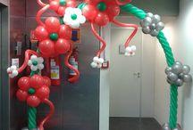 Spring Flower Balloon Decor / Spring and Flower Balloon Sculptures