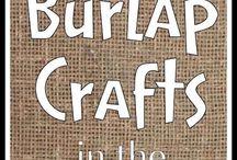 I can make these...burlap stuff / by Deborah Byron-Leffler