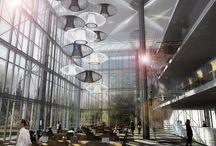 Double height space / Atrium lighting
