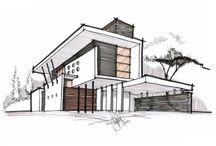 Mimari çizim taslakları