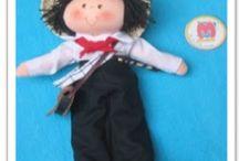 trajes colombianos muñecos