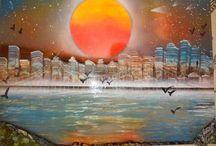 spray festményeim