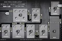 Rock guitar pedals