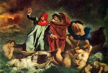 Eugène Delacroix / (1798-1863) francuski malarz, przedstawiciel romantyzmu, w późniejszej twórczości był pod silnym wpływem obrazów Rubensa, wprowadził nowe spojrzenie na malarstwo. Nowatorstwem w jego twórczości było przedstawianie aktualnych wydarzeń. Tworzył także dzieła religijne, mimo, że był ateistą. W jego twórczości pojawia się duży ładunek emocjonalny, dynamikę, orient i wizerunki konkretnych kobiet (wcześniej kobiety były przedstawiane, jako alegorie, czego przykłady znajdziemy także w jego twórczości).