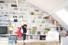 [interiors] bookshelves