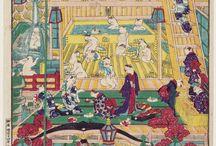 歌川国利 utagawa kunitoshi / うたがわ くにとし、(弘化4年〈1847年〉 - 明治32年〈1899年〉9月7日)とは、明治時代の浮世絵師。 三代目歌川豊国の門人。姓は山村、名は清助。屋号を三河屋、号を梅寿、梅翁と称す。後に、楳樹、邦年とも称した。歌川姓を称し、明治7年(1874年)頃から銀座の風景、鉄道馬車、三井銀行などの3枚続や「開化名勝図」あるいは横判の「東京名所」シリーズの他、風俗画を描いている。享年53。墓所は東京都台東区元浅草の観蔵院。法名は秋風国利信士。