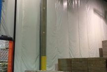 3PL | Insulated Warehouse Curtain Wall | Heated Warehouse Space / Randall's InsulWall®, insulated warehouse curtain wall, creates a separate heated area