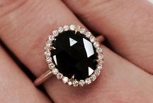 Rose Gold Black Engagment Rings