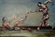 Ballet paintings / Paintings of ART & LEF by Paul La Poutré with the theme ballet