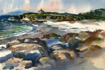 Beach and Coastal Art by Famous California Artists / Beach and Coastal Art by Famous California Artists. Watercolor and oil paintings, plus fine art prints for sale.