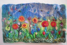 Felted pieces