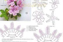 связанные цветы