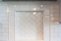 Tile Design / Tile is the icing in the cake when renovating your kitchen or bath. Here are some times and layouts I'm loving.