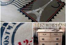 Stencils and Wallpaper