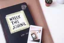 Wreck This Journal / All my Wreck This Journal completed pages