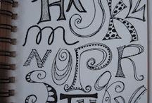 calligrafia, zentangle, doodles