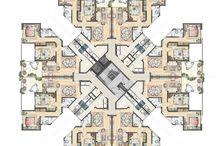planta arquitectura geométrica