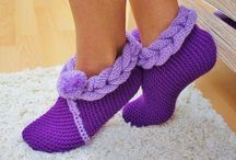 Kötött otthoni cipők