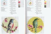 punto croce- bird