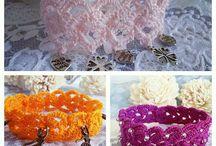 Rocreanique -Crochet Bracelets / unique crochet bracelets from my shop: Rocreanique https://www.etsy.com/shop/Rocreanique