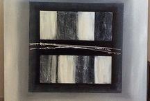 """L'épi gris / Je vous présente """" l'épi gris """"  Toile 3 D.        100/100  Style contemporain  Coloris gris , noir et blanc  Matière acrylique et pâte de structure   www.facebook.com/toiles.jeaninelucci Site web : toilesjeaninelucci.ultra-book.com"""