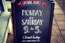 Our A Frame / Pictures of our shop A frame #handletter #handlettering #typography #chalk #chalkpen