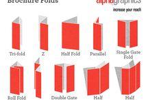 Brochures - creative folds