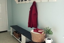 "Mudroom/Laundry Room Inspiration / Check out our complete project in the ""Making a house our home board!"""