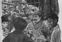 """Le coup d'envoi / Par Philippe Avron Le hasard - que beaucoup nomment la Providence - a lancé Pierre à l'assaut des gosses de la rue Gambetta. C'est d'abord par devoir que Pierre rencontrera si souvent Maurice, Bébéert, Sugar et Jojo. Mais ensuite, quand son coeur débordera, ce sera pour son bonheur et pour sa joie. """"Nous sommes tous des vitraux, disait un homme qui connaissait bien les jeunes. Il faut s'arranger pour qu'à travers nous passe la lumière..."""""""