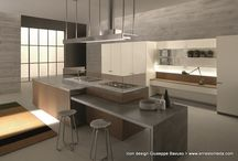 Living Kitchens / Living area & design: the union of the kitchen's working zone and the lounge zone. Functional and sophisticated.