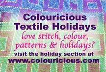 Colouricious Textile Holidays / join us on our next Colouricious Textile Holiday if you love textiles, stitch, colour and India!