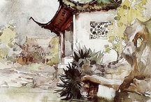 Art - Watercolor - Huayi Yu