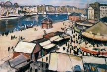 Albert Marquet / (1875-1947) fait partie de la génération du postimpressionnisme. Maître du paysage au regard sensible, ami de Matisse et de Derain, il a conservé, de sa période fauve, le sens de la couleur et de la lumière. / by Vicou S.