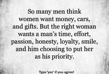 A man wants a woman