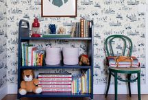 The Kids Room / Fun simple ideas for decorating the rooms of your little ones.  DIY, interior design, walls, children, paint, fun, play, beds, kids, sweet, toddler, pillows, themed.