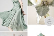 Inspiration Board {Sage Green and Grey} / Gorgeous collection of sage and grey wedding finds.