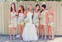 Perfect Mismatched Bridesmaid dresses