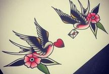 vintage swallow tattoo ideas