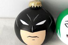 Christmas tree (batman & minion) / Arbol de navidad de Batman y Minios con cosas DIY